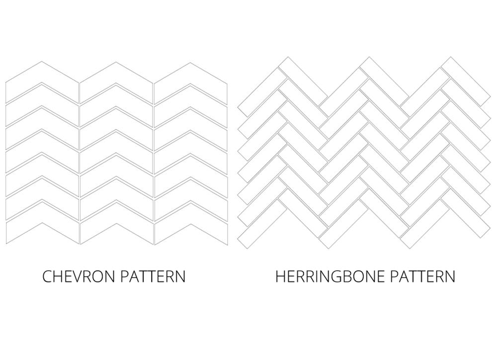 Herringbone and chevron pattern
